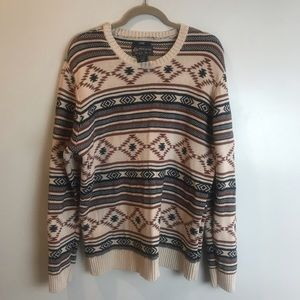 American Rag Aztec Blue and Rust Sweater